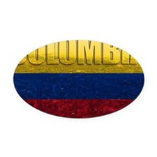 Colombia Flag Oval Car Magnet