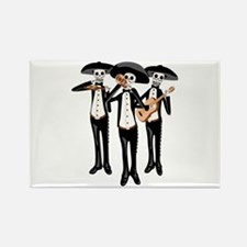 Day Of The Dead Mariachi Skeletons Magnets