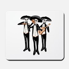 Day Of The Dead Mariachi Skeletons Mousepad