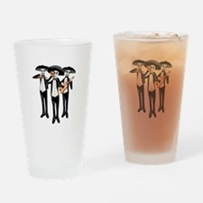 Day Of The Dead Mariachi Skeletons Drinking Glass