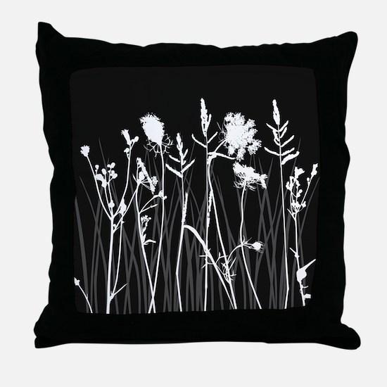 Elegant Grass Silhouette Throw Pillow