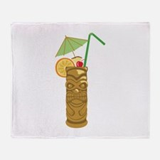 Tiki Mug Drink Throw Blanket