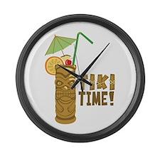 Tiki Time! Large Wall Clock