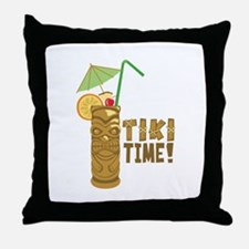 Tiki Time! Throw Pillow