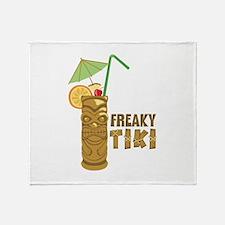 Freaky Tiki Throw Blanket
