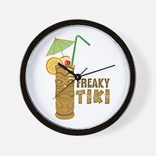 Freaky Tiki Wall Clock