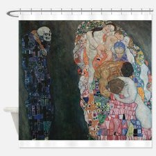 Death and Life Shower Curtain