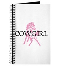 pink horse cowgirl Journal