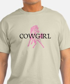 pink horse cowgirl T-Shirt