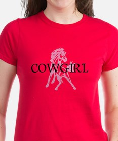 pink horse cowgirl Tee