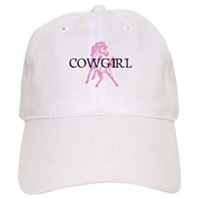 pink horse cowgirl Baseball Baseball Cap