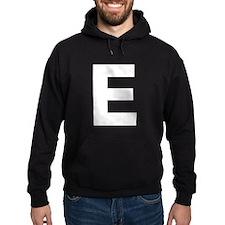 Letter E White Hoodie