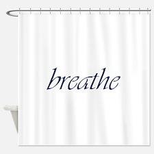 Breathe.Psd Shower Curtain