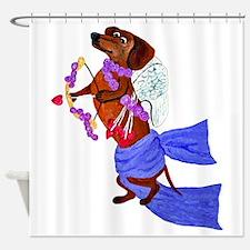 Dachshund Cupid Shower Curtain