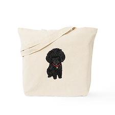 Poodle pup (blk) Tote Bag