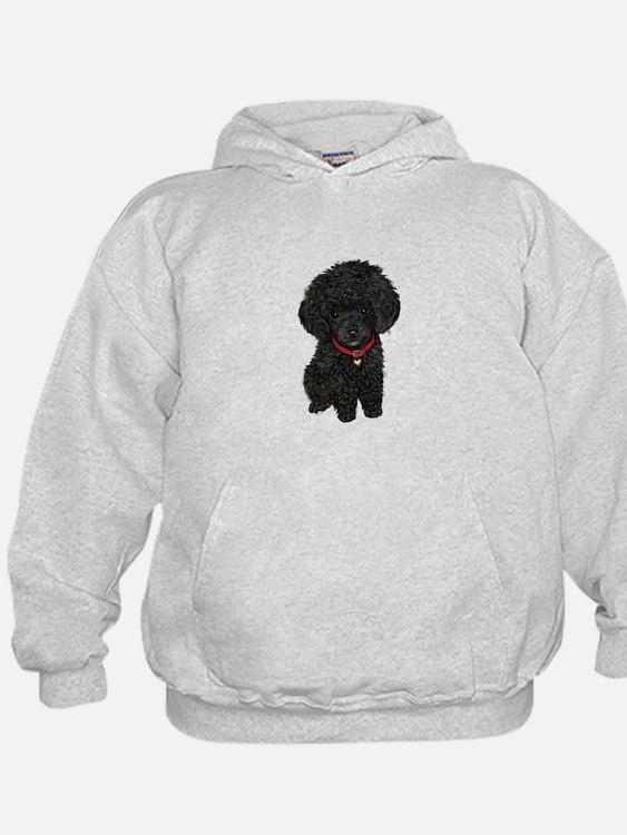 Poodle pup (blk) Hoodie