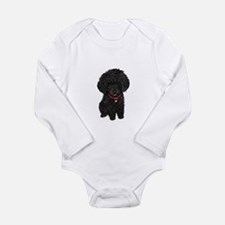 Poodle pup (blk) Onesie Romper Suit