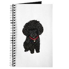 Poodle pup (blk) Journal