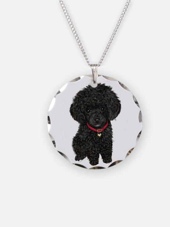 Poodle pup (blk) Necklace