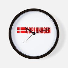 Copenhagen, Denmark Wall Clock
