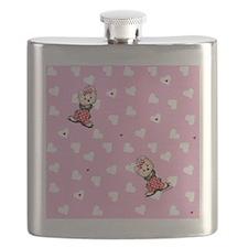 Yorkie Valentines Flask