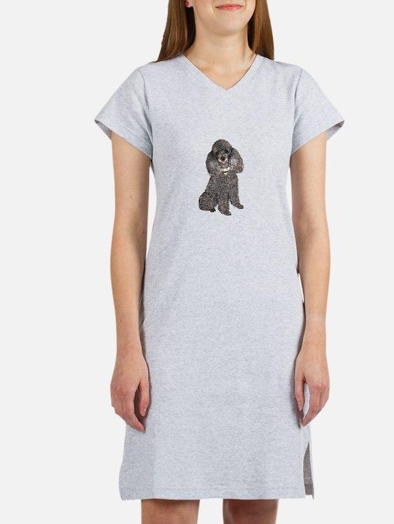 Poodle (Min-Slvr) Women's Nightshirt