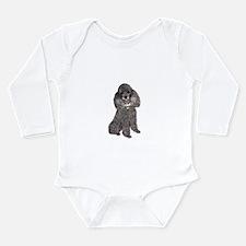 Poodle (Min-Slvr) Long Sleeve Infant Bodysuit