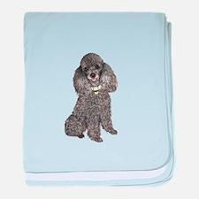 Poodle (Min-Slvr) baby blanket