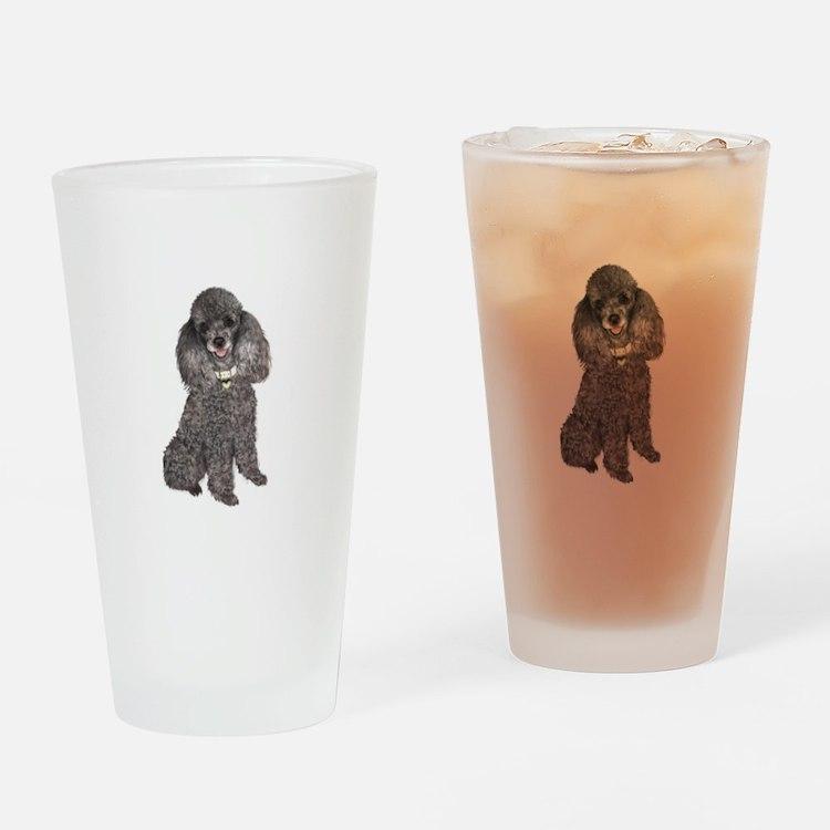 Poodle (Min-Slvr) Drinking Glass