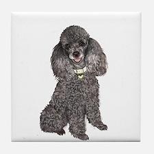 Poodle (Min-Slvr) Tile Coaster