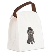 Poodle (Min-Slvr) Canvas Lunch Bag