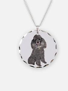 Poodle (Min-Slvr) Necklace