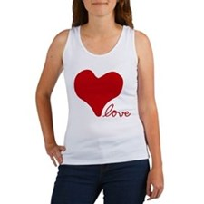 RED HEART LOVE inspired by Pablo Neruda Tank Top