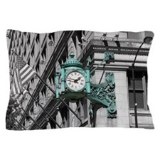 Green Marshall Fields Clock Chicago Ph Pillow Case
