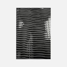 Wavy Building Chicago Architectur Rectangle Magnet