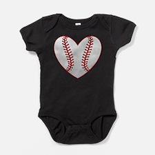 cute Baseball Heart Body Suit