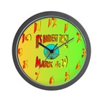 It's Harvest Time Wall Clock