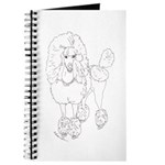 Rock Star Poodle Dog Journal