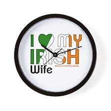 I Love My Irish Wife Wall Clock