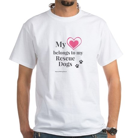 Heart - Rescue Dogs White T-Shirt