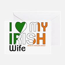I Love My Irish Wife Greeting Cards