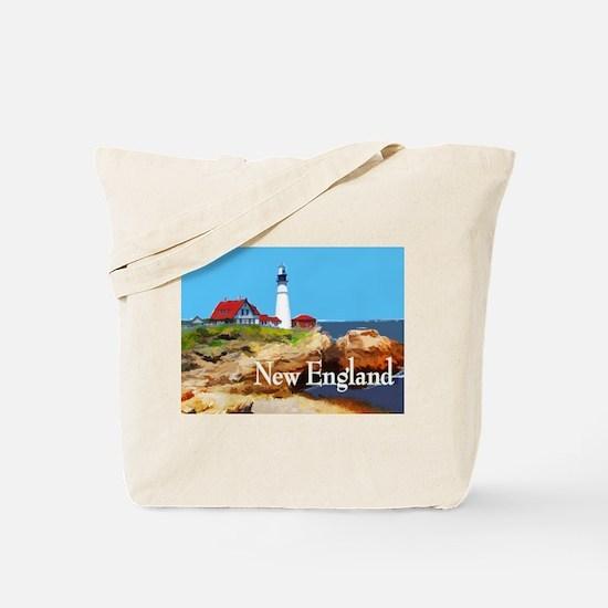 Portland Head Lighthouse New England Tote Bag
