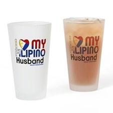 I Heart My Filipino Husband Drinking Glass