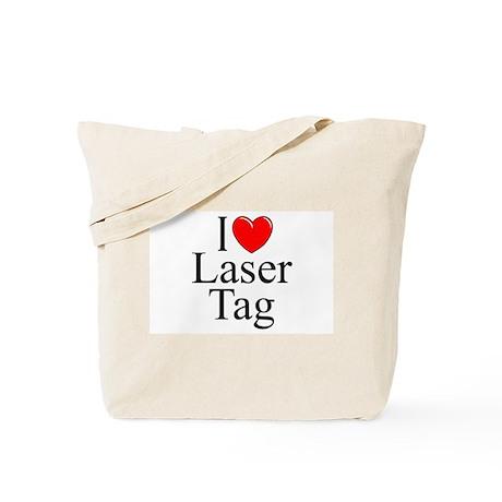 """I Love (Heart) Laser Tag"" Tote Bag"