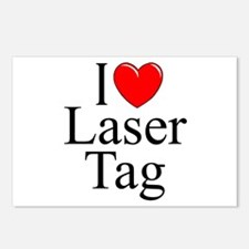 """I Love (Heart) Laser Tag"" Postcards (Package of 8"