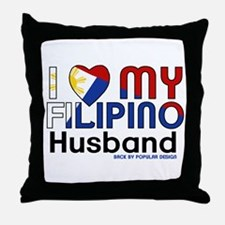 I Heart My Filipino Husband Throw Pillow