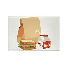 Paper Bag Milk Sandwich Magnets