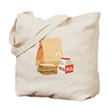 Paper Bag Milk Sandwich Tote Bag