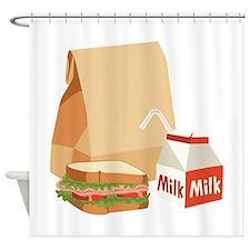 Paper Bag Milk Sandwich Shower Curtain