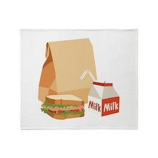 Paper Bag Milk Sandwich Throw Blanket